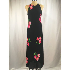 Maggy London Floral Maxi Dress Size 8